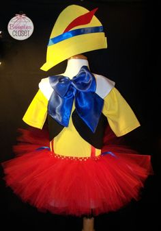 Pinocchio - costume, tutu set, short set, girl, boy, unisex, costume child, Halloween, Carnivale, Dance Theater, Dance Costume, Character