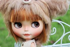 OOAK Custom Original Takara Blythe doll Odekake Kimono Musum.