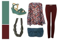 Wine & Teal - Outfit Inspiration