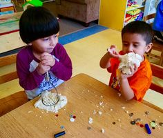 Making some play-dough art!