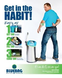 New ad campaign aims to boost participation in recycling program | Bluebag Recycling, City of Franklin, recycling, campaign, Franklin TN news, Franklin Home Page