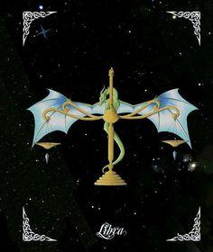 Libra Dragon Zodiac Print