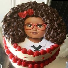 I always wanted to make a cake like this.and i finally got an order.the customer loved it . Girly Cakes, Fancy Cakes, Cute Cakes, Chocolate Tumblr, Chocolate Girls, Beautiful Cakes, Amazing Cakes, Bolo Tumblr, Afro