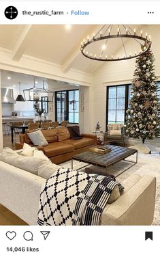 What everyone else does when it comes to home design Interior Living Room Open Concept 19 # Home Living Room, Living Room Designs, Living Spaces, Open Living Room Kitchen Ideas, Living Room At Christmas, Open Living Rooms, Open Floor Plan Living Room And Dining, Kitchen Living, Open Living Area
