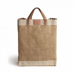 Shop Farmhouse Tote, Large from Soho Home today. Discover design-led, unique and inspirational pieces found in Soho Houses worldwide. Jute Tote Bags, Reusable Tote Bags, Small Jute Bags, Leather Handle, Leather Bag, Soho Farmhouse, Retail Bags, Soho House, New Shop