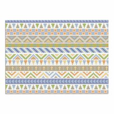 KESS InHouse Noonday Design 'Happy Tribal Pattern' Pastel Abstract Dog Place Mat, 13' x 18' *** You can get more details here : Dog food container