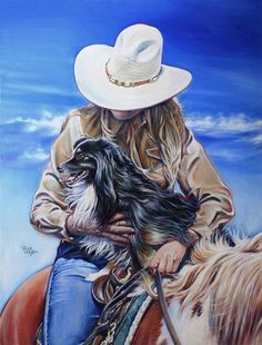 Cowboy Painting - Look Momma I See The Herd by Rick Unger Country Art, Country Girls, Cowgirl And Horse, Vintage Cowgirl, Southwest Art, Le Far West, Photo Wall Collage, Western Art, Horse Art