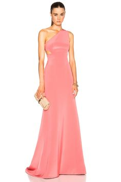 Image 1 of KAUFMANFRANCO Crepe Gown in Pink