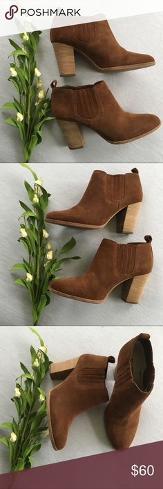 Michael Kors Shaw Suede Carmel  Booties 8.5 Worn a handful of time in very good condition. Michael Kors Shoes Ankle Boots & Booties