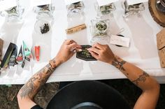 This Oregon wedding featured a weed bar that was a huge hit with their guests | Jessica Hill Photography