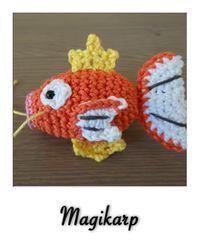 Free - Magikarp pokemon amigurumi crochet pattern // by Crochetnanigans Pokemon Crochet Pattern, Crochet Geek, Crochet Patterns Amigurumi, Cute Crochet, Crochet Dolls, Crochet Yarn, Knitting Patterns, Pokemon Craft, Crochet Projects