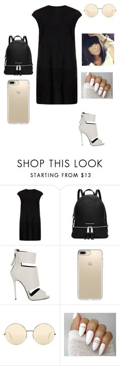 """""""Untitled #761"""" by hdflynn ❤ liked on Polyvore featuring MuuBaa, MICHAEL Michael Kors, Giuseppe Zanotti, Speck and Victoria Beckham"""