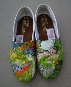 Toms shoes inspired by Monets gardens and lilies paintings