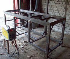 Welding Shop, Diy Welding, Welding Table, Industrial Kitchen Design, Vintage Industrial Furniture, Rustic Industrial, Loft Kitchen, Home Decor Kitchen, Metal Work Bench