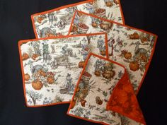 PLACEMATSTHANKSGIVING PILGRIM set of 4 by DonnaleesTreasures, $18.00