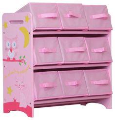 MiPetiteLife.es - Estantería Buho y Gatito Kidsaw Estantería ideal para guardar juguetes y para mantener la habitación ordenada, ya que, ofrece 9 recipientes de almacenaje. Los juguetes pueden ser fácilmente ordenados y de forma rápida. Dimensiones: H.67 x x W.60 D.28cm. www.MiPetiteLife.es