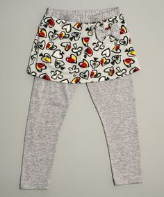 Another great find on #zulily! Gray Spades Skirted Leggings - Toddler & Girls #zulilyfinds