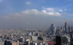 Bogota city during a pollution episode