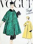 1950s Pure Elegance SWING Coat and Slim Skirt Pattern VOGUE COUTURIER DESIGN 986 Beautiful Full Coat or Jacket Built Up Waist Slim Skirt Bust 32 Vintage Sewing Pattern