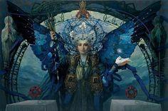 the best serbian surrealist & symbolist painter Željko Tonšić (rest in peace ) Esoteric Art, Hedge Witch, Fairy Queen, Secret Places, Artist Names, Art Music, Deities, Mythology, Fantasy Art