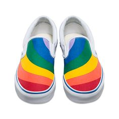Vans Rainbow Slip-On - I would totally rock these