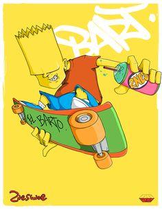 Foto: Ilustraciones de Los Simpsons por 2NES UNOe de Florida   inspiracion diseno ilustraciones galerias imagenes