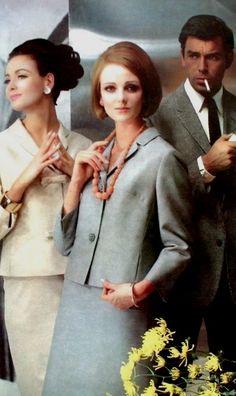 Grace Coddington wearing Jobis women's suit 1964
