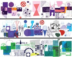 Neasden Control Centre Product and pattern illustration