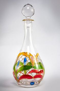 Orleans Hand Painted Hand Blown Wine Decanter by HomeStoreDeluxe