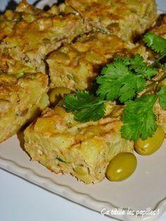 Tajine tunisien au thon, pommes de terre et fromage