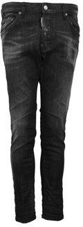 DSQUARED2 Men's Black Cotton Jeans.