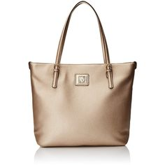 Anne Klein Perfect Tote Large Shoulder Bag ($25) ❤ liked on Polyvore featuring bags, handbags, shoulder bags, shoulder strap bag, anne klein handbags, handbags totes, carryall tote and anne klein purses