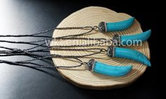 Brand Name: WKT  Model Number: WT-NV056  Main Stone:Turquoise Size : About 15*60mm pendant vary slightly each one on size  Chain length:18 long 3mm black hematite beads necklace  color: Natural stone color  Design: supply custom design  Packing:Each piece have one OPP bag, bubble wraps  We are factory sales directly, A. can supply various kinds of brass in 18K,22K, 24K gold plated, 925silver plated, gunblack, rose quartz color ect.  B. Different stone shape and color and size according to…