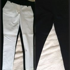Indigo black/white trousers size 10 never worn Indigo black/white trousers, size 10  ankle length, white in front, black back Indigo Pants Trousers
