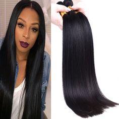 Shipping from US Brazilian Silky Straight Virgin Hair 100% Unprocessed Brazilian Virgin Hair Weave Bundles