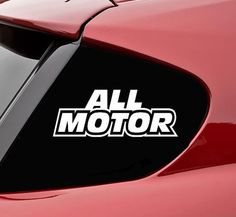 SlapArt design  All Motor Vinyl Wall Decal by VinylMasterpieces, $4.99