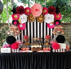 New kate spade bridal shower backdrop dessert tables 23 Ideas 30th Birthday Parties, Birthday Party Decorations, 50th Birthday, Cake Birthday, Kate Spade Party, Kate Spade Cake, Bridal Shower Backdrop, Paper Flower Backdrop, Birthday Woman