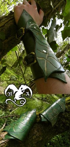 Elven bracers by ~Noir-Azur on deviantART
