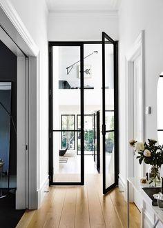Glass office door | doors | #doors #office http://www.ironageoffice.com/