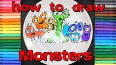 How to draw colored monsters on a plate