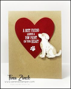 The Serene Stamper: Happy Tails Card Pet Sympathy Cards, Sympathy Gifts, Diy Gifts For Friends, Cards For Friends, Dog Cards, Diy Christmas Cards, Happy Birthday Images, Pet Loss, Animal Cards