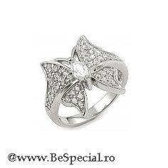 inel argint in forma de floare 112 lei Butterfly Jewelry, Engagement Rings, My Style, Pretty, Accessories, Lei, Jewellery, Enagement Rings, Wedding Rings
