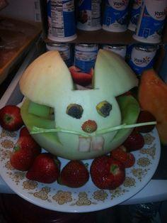 honeydew rabbit fruit basket..