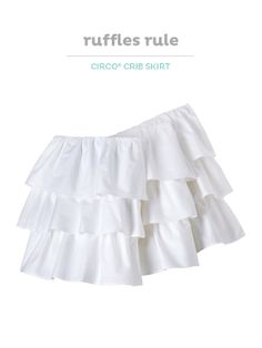 Can't get enough ruffles? Check out this Circo crib skirt, so pretty in your baby's nursery.