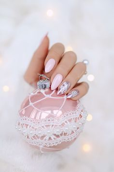 If you can understand the value of acrylic gel nail designs with gems sparkle, this post is for you. Hope you will select any form of our ideas. Nail Manicure, Toe Nails, Pink Nails, Gel Nail, Gem Nail Designs, Winter Nail Designs, Xmas Nails, Christmas Nails, Cute Acrylic Nails
