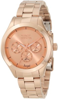 Watches women Online store for Invicta Women's 12467 Angel Rose Dial Rose Gold Ion-Plated Stainless Steel Watch