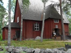 old church Helsinki, Finland, Cabin, House Styles, Home Decor, Decoration Home, Room Decor, Cabins, Cottage