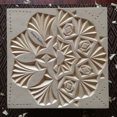 """Incompatibility (chip carving, pattern by Tatiana Baldina) https://instagram.com/tatbalcarvings/"