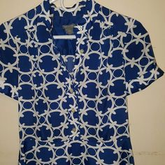 FINAL SALE $25.00♡☆Ann Taylor dress Pretty  Blue Pattern Ann Taylor Dresses High Low