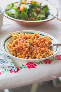 Pasta E Ceci (pasta with chickpeas and tomatoes_